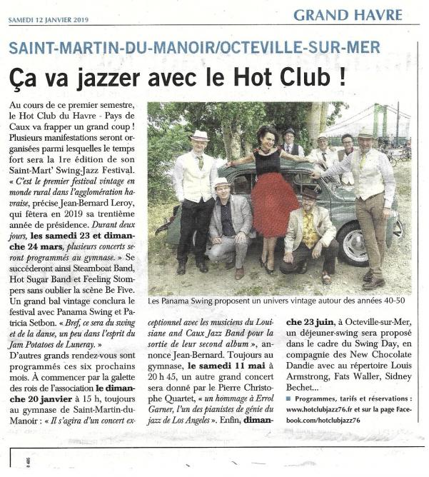 Article de presse galette de rois du swing 12 01 19 ph